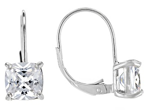 Bella Luce® 4.80ctw Diamond Simulant Rhodium Over Silver Leverback Earrings