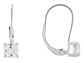 Bella Luce® 1.90ctw Diamond Simulant Rhodium Over Silver Leverback Earrings