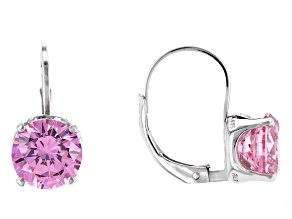 Bella Luce® 6.60ctw Pink Diamond Simulant Silver Leverback Earrings
