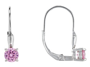 Bella Luce® 1.70ctw Pink Diamond Simulant Over Silver Leverback Earrings