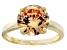 Bella Luce ® 6.58ctw Champagne Diamond Simulant 18k Gold Over Silver Ring