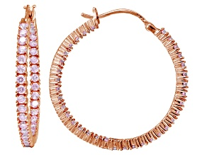 Bella Luce ® 4.20ctw Pink Diamond Simulant 18k Rose Gold Over Silver Earrings