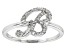 White Cubic Zirconia Rhodium Over Sterling Silver Ring 0.29ctw