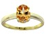 Bella Luce® 2.06ct Champagne Diamond Simulant 18k Gold Over Solitaire Ring