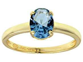 Bella Luce® 2.06ct Oval Apatite Simulant 18k Gold Over Silver Solitaire Ring