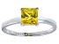 Bella Luce® 2.1ct Yellow Diamond Simulant Rhodium Over Silver Solitaire Ring