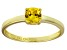 Bella Luce® 1.05ct Yellow Diamond Simulant 18k Gold Over Silver Solitaire Ring