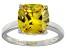 Bella Luce® 7.40ct Yellow Diamond Simulant Rhodium Over Silver Solitaire Ring