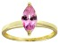 Bella Luce® 1.62ct Pink Diamond Simulant 18k Gold Over Silver Solitaire Ring