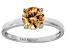 Bella Luce® 2.17ct Champagne Diamond Sim Rhodium Over Silver Solitaire Ring
