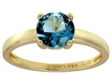Bella Luce® 2.17ct Apatite Simulant 18k Yellow Gold Over Silver Solitaire Ring