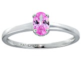 Bella Luce® .73ct Oval Pink Diamond Sim Rhodium Over Silver Solitaire Ring