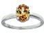 Bella Luce® 2.06ct Champagne Diamond Sim Rhodium Over Silver Solitaire Ring