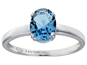 Bella Luce® 2.06ct Oval Apatite Simulant Rhodium Over Silver Solitaire Ring