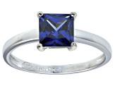 Bella Luce® 2.1ct Princess Cut Tanzanite Sim Rhod Over Silver Solitaire Ring