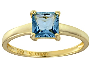 Bella Luce® 2.1ct Apatite Simulant 18k Yellow Gold Over Silver Solitaire Ring