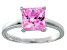 Bella Luce® 3.33ct Pink Diamond Simulant Rhodium Over Silver Solitaire Ring