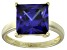 Bella Luce® 9.56ct Tanzanite Simulant 18k Gold Over Silver Solitaire Ring