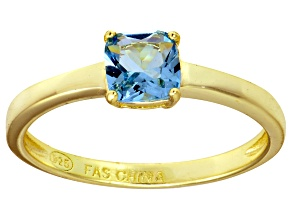 Bella Luce® 1.05ct Cushion Apatite Sim 18k Gold Over Silver Solitaire Ring