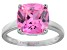 Bella Luce® 7.4ct Pink Diamond Simulant Rhodium Over Silver Solitaire Ring