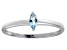 Bella Luce® .24ct Marquise Apatite Simulant Rhodium Over Silver Solitaire Ring