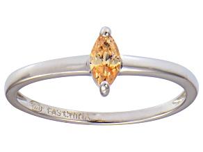 Bella Luce® .41ct Champagne Diamond Sim Rhodium Over Silver Solitaire Ring