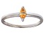 Bella Luce® .41ct Champagne Diamond Sim Rhodium Over Silver Solitaire Ring