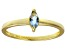 Bella Luce® .41ct Marquise Apatite Sim 18k Gold Over Silver Solitaire Ring