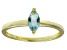 Bella Luce® 0.6ct Marquise Apatite Sim 18k Gold Over Silver Solitaire Ring
