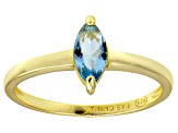 Bella Luce® 0.8ct Apatite Simulant 18k Yellow Gold Over Silver Solitaire Ring