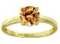 Bella Luce® 2.17ct Champagne Diamond Simulant 18k Gold Over Silver Ring