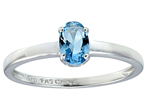 Bella Luce® .73ct Oval Apatite Simulant Rhodium Over Silver Solitaire Ring