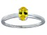 Bella Luce® .73ct Oval Yellow Diamond Sim Rhodium Over Silver Solitaire Ring