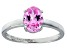 Bella Luce® 2.06ct Oval Pink Diamond Simulant Rhodium Silver Solitaire Ring