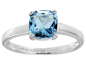 Bella Luce® 2.65ct Cushion Apatite Simulant Rhodium Over Silver Solitaire Ring