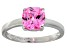Bella Luce® 2.65ct Pink Diamond Simulant Rhodium Over Silver Solitaire Ring