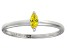 Bella Luce® .24ct Yellow Diamond Simulant Rhodium Over Silver Solitaire Ring