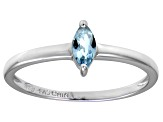 Bella Luce® .41ct Marquise Apatite Simulant Rhodium Over Silver Solitaire Ring