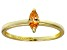 Bella Luce® .41ct Champagne Diamond Sim 18k Gold Over Silver Solitaire Ring