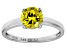 Bella Luce® 2.17ct Yellow Diamond Simulant Rhodium Over Silver Solitaire Ring