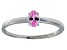 Bella Luce® .35ct Oval Pink Diamond Sim Rhodium Over Silver Solitaire Ring