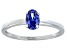Bella Luce® .73ct Oval Tanzanite Simulant Rhodium Over Silver Solitaire Ring