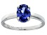 Bella Luce® 2.06ct Oval Tanzanite Simulant Rhodium Over Silver Solitaire Ring