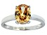 Bella Luce® 3.16ct Champagne Diamond Sim Rhodium Over Silver Solitaire Ring