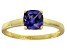 Bella Luce® 1.55ct Cushion Tanzanite Sim 18k Gold Over Silver Solitaire Ring