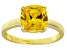 Bella Luce® 3.9ct Yellow Diamond Simulant 18k Gold Over Silver Solitaire Ring