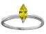 Bella Luce® 0.6ct Yellow Diamond Simulant Rhodium Over Silver Solitaire Ring