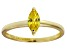 Bella Luce® 0.6ct Yellow Diamond Simulant 18k Gold Over Silver Solitaire Ring