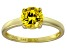 Yellow Cubic Zirconia 18k Yellow Gold Over Silver Solitaire Ring  2.17ct