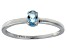 Bella Luce® .35ct Oval Apatite Simulant Rhodium Over Silver Solitaire Ring